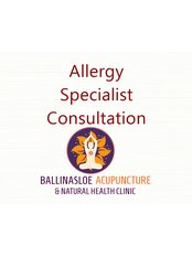 Allergy Specialist Consultation - Ballinasloe Acupuncture and Natural Health Clinic