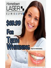 Laser Teeth Whitening - Hometown Laser Clinic and Spa
