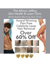 Laser Hair Removal - Pain Free | Over 60% off  - For a limited time only - Allison Jeffery Skin Health and Laser Clinic