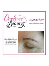 Microblading for a client who'd lost her own brows through chemotherapy - Carefree Beauty Permanent Makeup