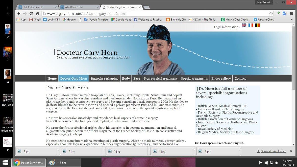 Dr Gary F.Horn - London