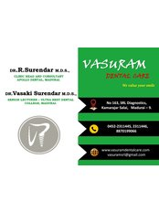 Dr Surendar Ramamoorthi - Dentist at Vasuram Dental - SRL Diagnostics
