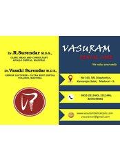 Vasuram Dental - SRL Diagnostics - No 163, SRL diagnoatics, Kamarajar salai, Near Ganesh theatre signal, Madurai, Tamilnadu, 625009,  0