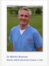 Dr Máirtín Brennan at Belgrave Dental Clinic - 1 Belgrave Square East, Rathmines, Dublin 6, D06 PP93,