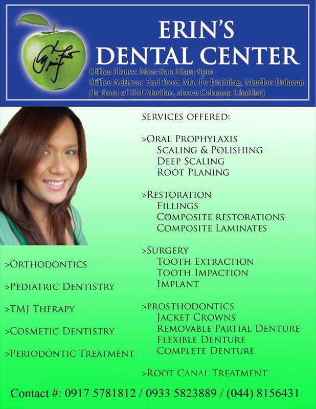 Erin S Dental Center In Valenzuela City Philippines