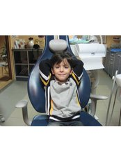 A relax child on dentist - Happy Smile