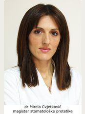 Mirela Cvjetkovic Dental Surgery - Mr sci. dr Mirela Cvjetkovic