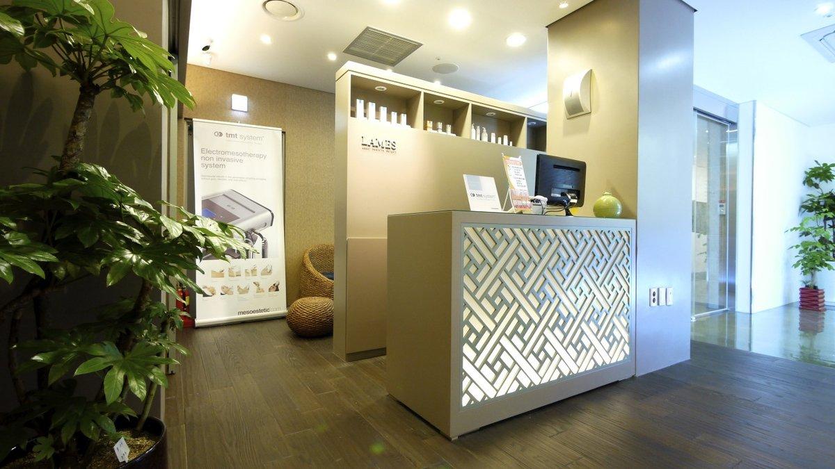Lames dermatologist clinic in gangnam gu south korea for Dermatology clinic interior design