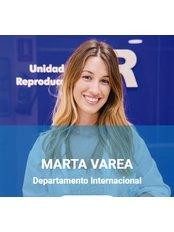 Frau Marta  Varea - Internationale Patientenkoordinatorin - UR Vistahermosa (Unidad de Reproducción)