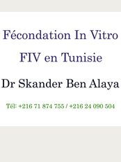 La fécondation in vitro en Tunisie, Dr Skander Ben Alaya - Fécondation in vitro en Tunisie