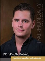 HairHungary Clinic - Budapest - Dr. Balázs Simon Chief hair specialist