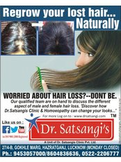 Dr Satsangis Hair & Skin Clinics pvt ltd - worried about hair loss?---dont be