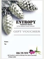 Entropy Treatment Rooms - Christmas Gift Voucher
