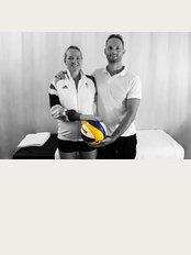 Blackheath Sports Clinic - Osteopath Dr Christoph Datler with London 2012 Olympian Shauna Mullin