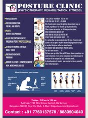 Posture Clinic - #1198, 22nd Cross Road, Sector 3, HSR Layout, Sector 3, Bangalore, Karnataka, 560102,