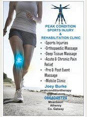 Peak Condition Sports Injury & Rehabilitation Clinic - Moanbaun, Athenry, Galway, H65 NY66,