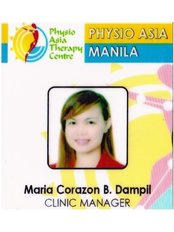 Ms Maria Corazon B. Dampil, PTRP - Physiotherapist at Physio Asia Therapy Centre - at the Fort, Manila