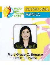 Ms Mary Grace C. Siongco, PTRP - Physiotherapist at Physio Asia Therapy Centre - at the Fort, Manila