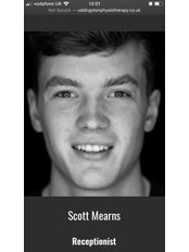 Mr Scott Mearns - Administrator at Uddingston Physiotherapy & Rehabilitation Clinic