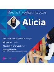 Miss Alicia Jamous -  at Physiolates-St John