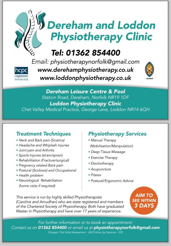 Dereham Physiotherapy  Sports Injury Clinic