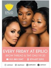 Epilio Laser Hair Removal - Epilio Friday Eyebrow Thread Tint Special in Sandton