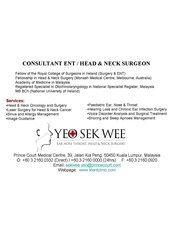 KL ENT CLINIC (Prince Court & Gleneagles Medical Centres) - Ear Nose and Throat Clinic in Malaysia