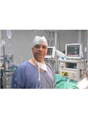 Dr. Rajas Urology & Andrology Center - Dr. Dilip Raja at OT for surgery
