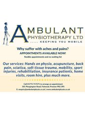 Ambulant Physiotherapy Limited - Physiotherapy Clinic in the UK