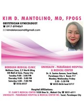 Dr. Kim Dela Rosa - Mantolino - Obstetrics & Gynaecology Clinic in Philippines