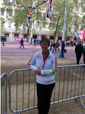 Pilates plus Physio - Rachel at the London Marathon