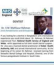 Dentist : Dr S M Mahfuzur Rahman - Dental Clinic in Bangladesh