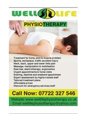 Well Life Physiotherapy - What we offer