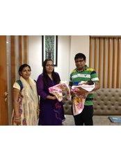 India IVF and Surrogacy Centre - Rita and Rohan Thakur with their twins.