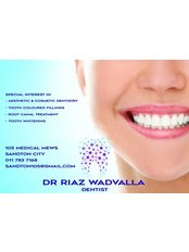 Sandton City Dentist - Dr. Riaz Wadvalla - Dr Riaz Wadvalla - Aesthetic and Cosmetic dentist